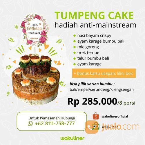Tumpeng Cake Cuma Rp 285 000 8 Porsi Dari Wakuliner Jakarta Utara Jualo