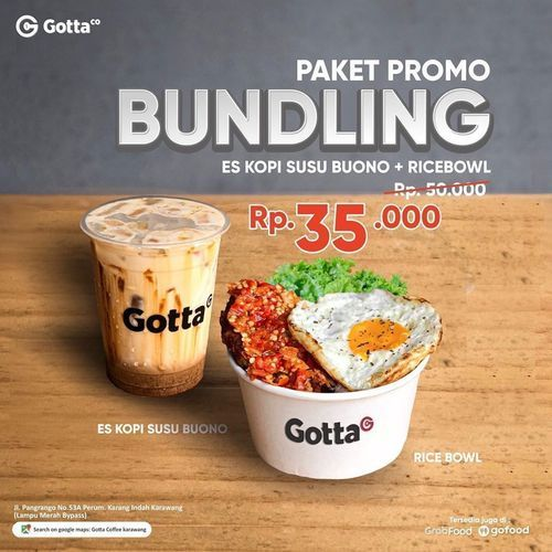 GOTTA COFFEE PROMO BUNDLING & DISKON 20% di Gofood / GrabFood (27298963) di Kota Jakarta Selatan