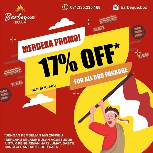 BARBEQUE PROMO MERDEKA 17% OFF (27305995) di Kota Jakarta Selatan