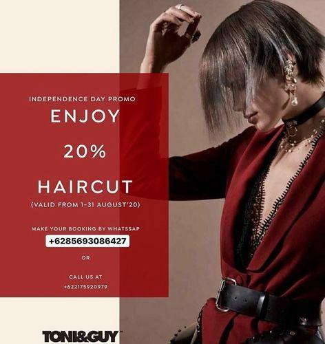 Toni & Guy Independence Day Promo Enjoy 20% Haircut (27306287) di Kota Jakarta Selatan