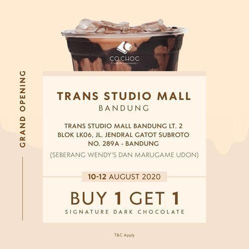 CO.CHOC Promo Opening Buy 1 Get 1 (27306435) di Kota Jakarta Selatan