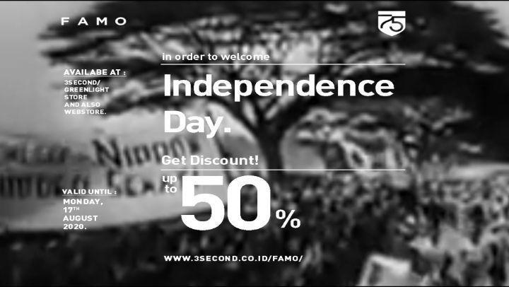 FAMO Promo Independence Day Discount 50% (27328603) di Kota Jakarta Selatan