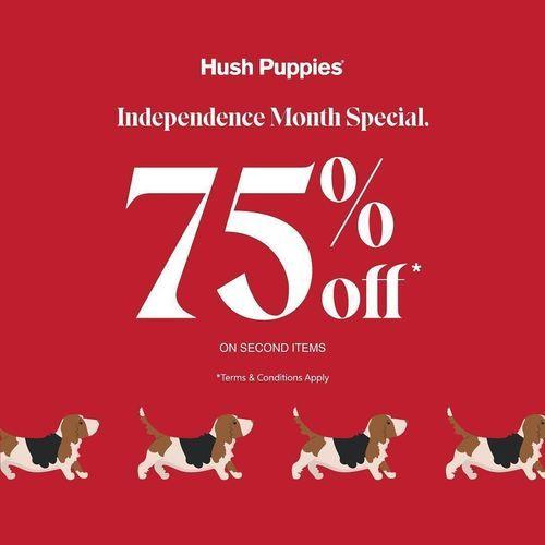 HUSH PUPPIES promo 75% off setiap pembelian product kedua distore Hush Puppies (27340959) di Kota Jakarta Selatan