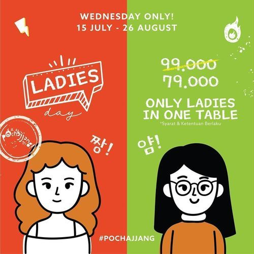 Pochajjang Korean BBQ Promo Ladies Day (27345807) di Kota Jakarta Selatan