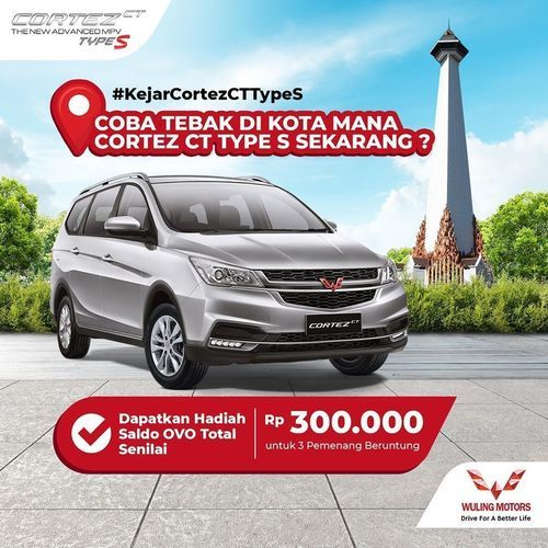 Wuling Motors Hadiah OVO Rp. 300.000 (27351771) di Kota Jakarta Selatan