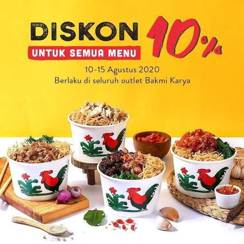 BAKMI KARYA DISKON 10% UNTUK SEMUA MENU (27353739) di Kota Jakarta Selatan