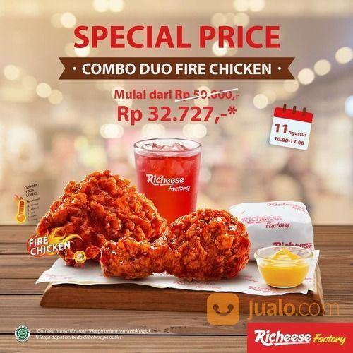 RICHEESE FACTORY SPECIAL PRICE COMBO DUO FIRE CHICKEN (27353783) di Kota Jakarta Selatan