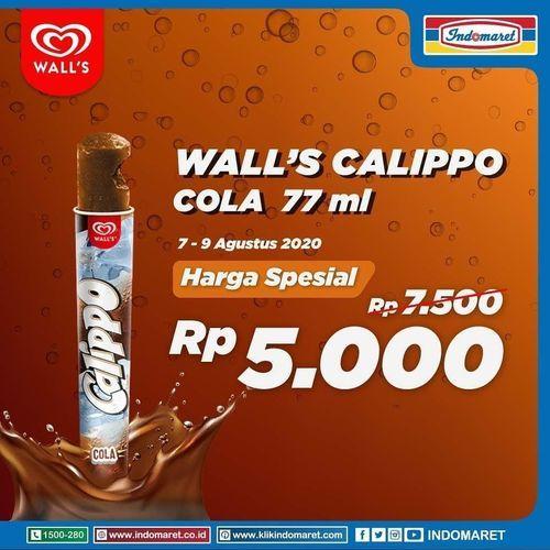 INDOMARET PROMO WALL'S CALIPPO COLA RP 5000 (27354799) di Kota Jakarta Selatan
