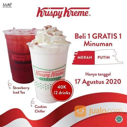 KRISPY KREME BELI 1 Cookies Chiller GRATIS 1 Strawberry Iced Tea (27362287) di Kota Jakarta Selatan