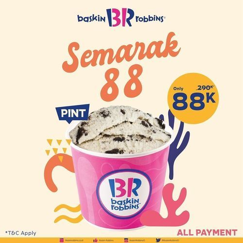 BASKIN ROBBINS FRESH PACK PINT PROMO QUART SEMARAK 88 (27380231) di Kota Jakarta Selatan