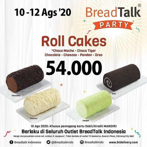 BREADTALK PARTY PROMO ROLL CAKES (27380355) di Kota Jakarta Selatan