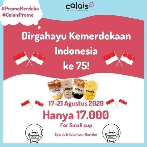 Calais Bubble Tea Promo Kemerdekaan Hanya 17.000 (27412607) di Kota Jakarta Selatan