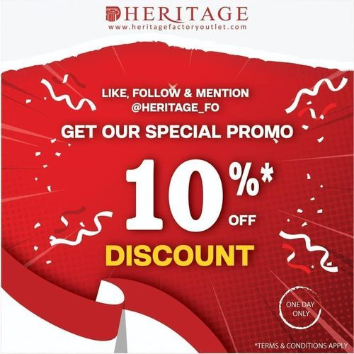 Heritage Factory Outlet Get Our Special Promo 10% (27422331) di Kota Jakarta Selatan