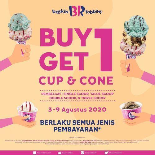 BASKIN ROBBINS BUY 1 GET 1 CUP AND CONE (27437395) di Kota Jakarta Selatan