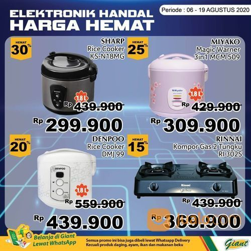GIANT PROMO HARGA HEMAT UNTUK PRODUK ELEKTRONIK (27467263) di Kota Jakarta Selatan