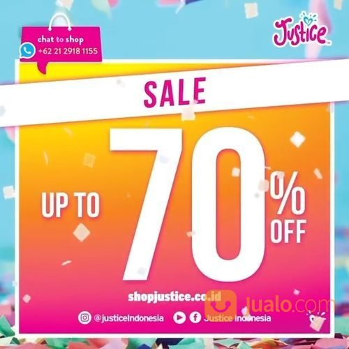Justice End of Season Sale is ON! SAVE up to 70% OFF (27468055) di Kota Jakarta Selatan
