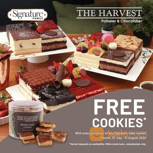 THE HARVEST FREE COOKIES PROMO SETIAP PEMBELIAN SIGNATURE CAKE (27495911) di Kota Jakarta Selatan