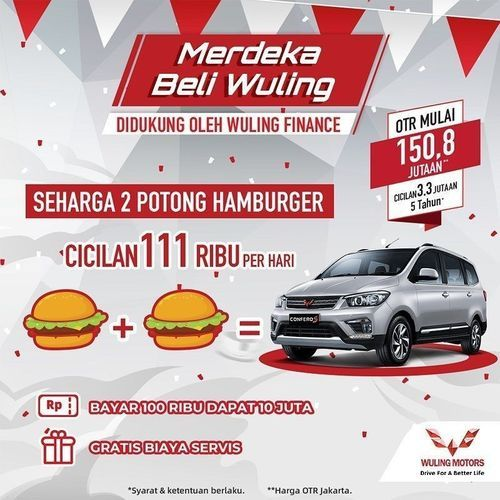 Wulings Motors ID Promo Merdeka Beli Wuling (27513287) di Kota Jakarta Selatan