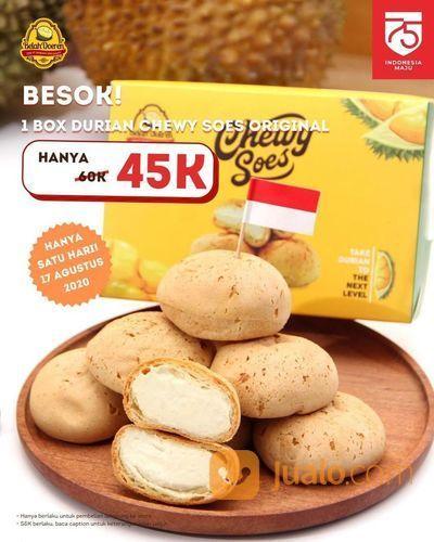 BELAH DOEREN 1 BOX DURIAN CHEWY SOES ORIGINAL PROMO 45K (27514627) di Kota Jakarta Selatan