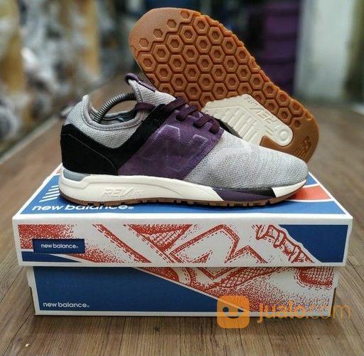 Sepatu New Balance 247 Light Grey Purple Black