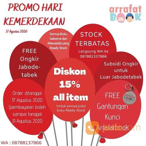 ARRAFAT BOOK PROMO HARI KEMERDEKAAN DISKON 15% ALL ITEM (27532135) di Kota Jakarta Selatan