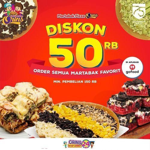 Martabak Pizza Orins Diskon 50Rb (27532827) di Kota Jakarta Selatan