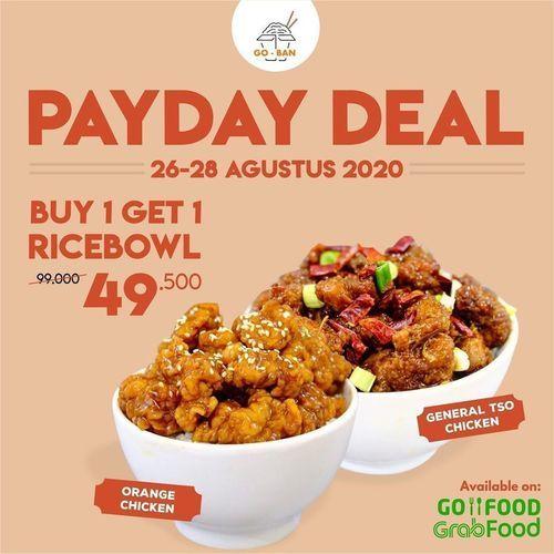 Go-Ban Payday Deal Buy 1 Get 1 Ricebowl (27571347) di Kota Jakarta Selatan