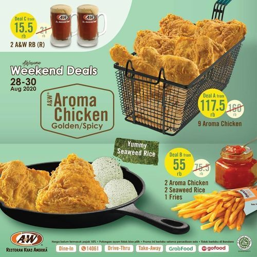 A&W Promo Weekend Deal Aroma Chicken (27571555) di Kota Jakarta Selatan