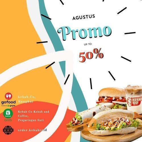 KEBAB AND COFFEE KEBABCO PROMO / 50% GOFOO / RABFOO / EB (27572463) di Kota Jakarta Selatan