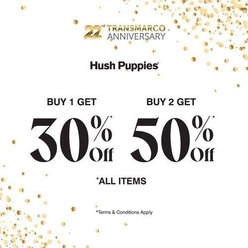 Hush Puppies Promo Buy 1 Get 30% Off x Buy 2 Get 50% off (27584331) di Kota Jakarta Selatan