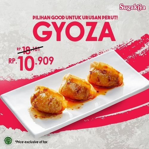 Sugakiya Promo Gyoza Only Rp. 10.909 (27589327) di Kota Jakarta Pusat