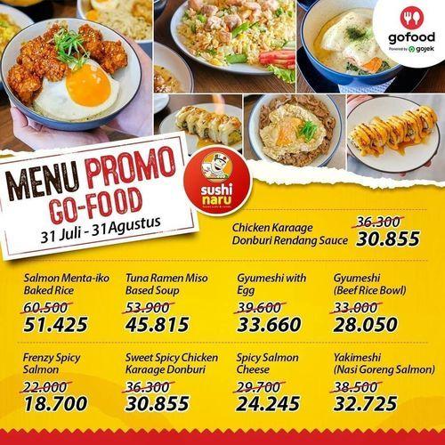 Sushi Naru Promo GoFood Agustus (27628935) di Kota Jakarta Selatan