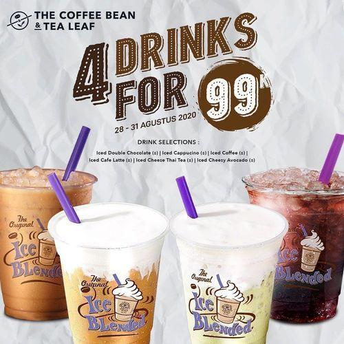 The Coffee Bean 4 Drinks For 99k (27630247) di Kota Jakarta Selatan