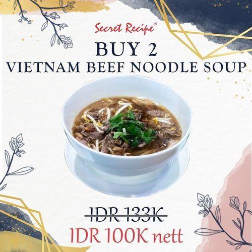 Secret Recipe Buy 2 Vietnam Beef Noodle Soup 100k Net (27659295) di Kota Jakarta Selatan