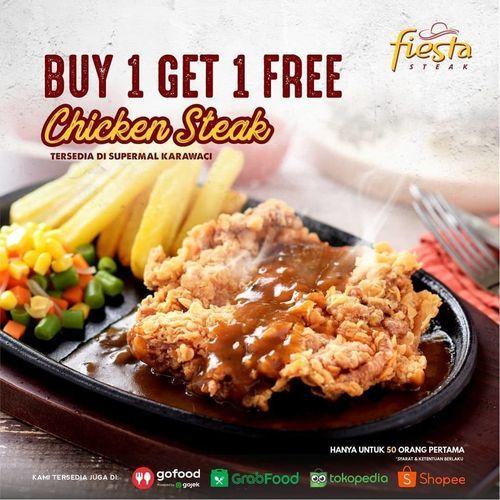 Fiesta Steak Buy 1 Get 1 Free Chicken Steak (27722287) di Kota Jakarta Selatan