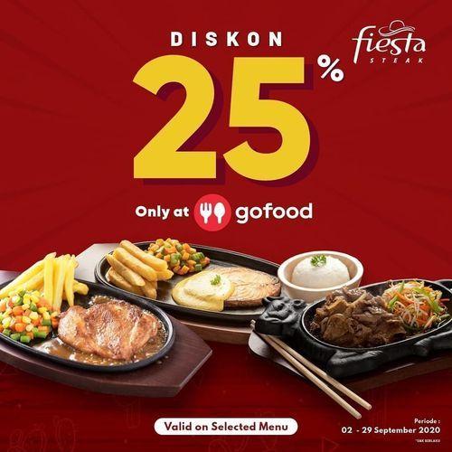 Fiesta Steak Diskon 25% Only At GoFood (27722291) di Kota Jakarta Selatan