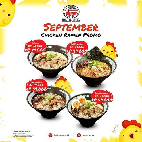 Bariuma Ramen ID September Chicken Ramen Promo (27722303) di Kota Jakarta Selatan