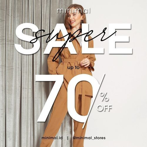 Minimal Super Sale Up To 70% (27722371) di Kota Jakarta Selatan