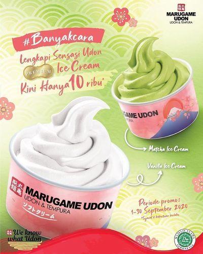 Marugame Udon Ice Cream Vanilla/Matcha Only 10k (27722775) di Kota Jakarta Selatan