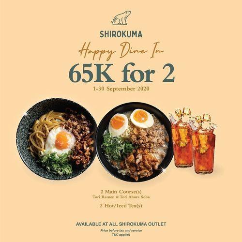 Shirokuma Promo Happy Dine In 65k For 2 (27762975) di Kota Jakarta Selatan