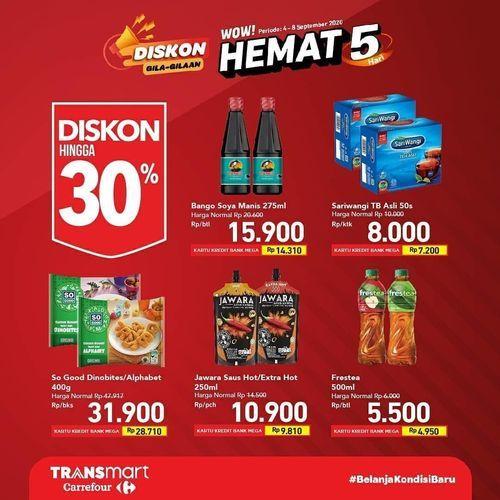 Transmart Carrefour Diskon Gila-Gilaan Hemat 5 Hari (27763211) di Kota Jakarta Selatan