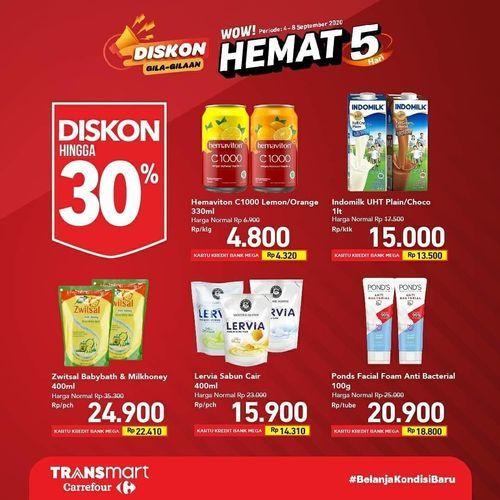 Transmart Carrefour Diskon Gila-Gilaan Hemat 5 Hari (27763219) di Kota Jakarta Selatan
