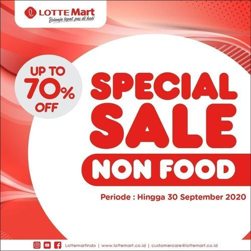 Lotte Mart Special Sale Non Food Up To 70% (27766031) di Kota Jakarta Selatan
