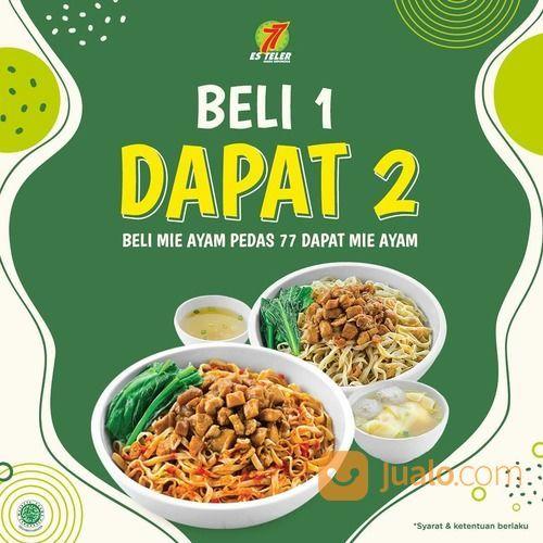 Es Teler 77 GRATIS Mie Ayam untuk setiap pembelian Mie Ayam Pedas 77 (27798795) di Kota Jakarta Selatan