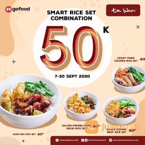 TA WAN PROMO VIA APLIKASI GO FOOD SMART RICE COMBINATION (27846587) di Kota Jakarta Selatan