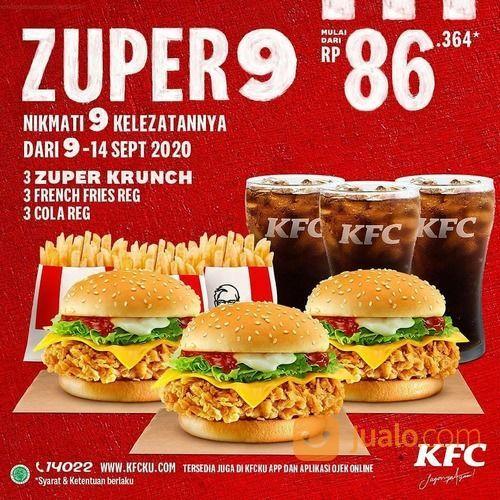 KFC Promo Zuper 9 Makan Bertiga HEMAT Luar Biasa! (27851799) di Kota Jakarta Selatan