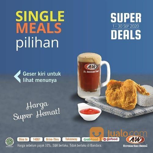 A&W Promo Super Deals September SINGLE MEALS PILIHAN (27861127) di Kota Jakarta Selatan