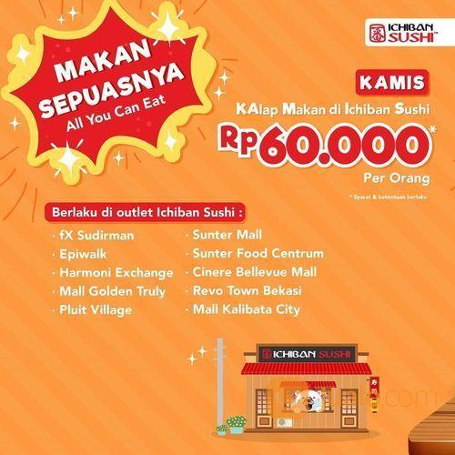 ichiban sushi 60.000 / orang all you can eat (27861971) di Kota Jakarta Selatan