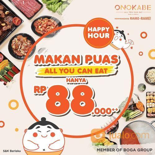 MAKAN PUAS ONOKABE PROMO ALL YOU CAN EAT RP 88.000 (27869243) di Kota Jakarta Selatan