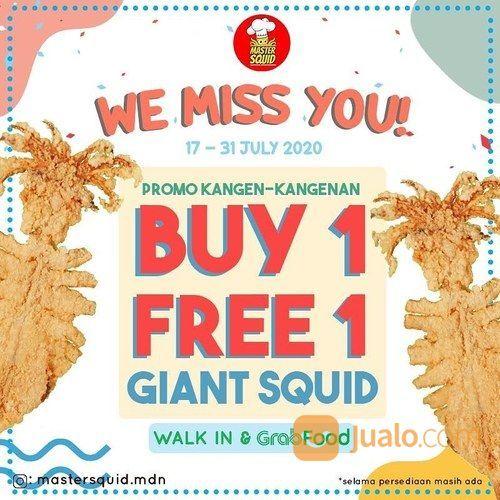 MASTER SQUID PROMO BUY 1 GET 1 Giant Squid ORDER DARI GRAB ATAU WALK IN (27869863) di Kota Jakarta Selatan